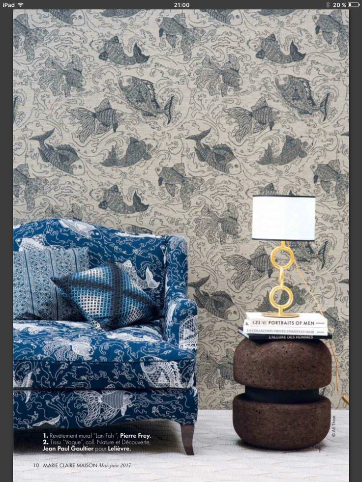 Pierre Frey Asian Style Fabric Wallpaper Symbols Of Strength Chinese Culture A Symbol Koi Home Accessories Fishing