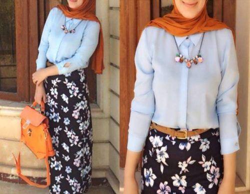 floral-maxi-skirt-hijab- Cute and girly hijab clothing