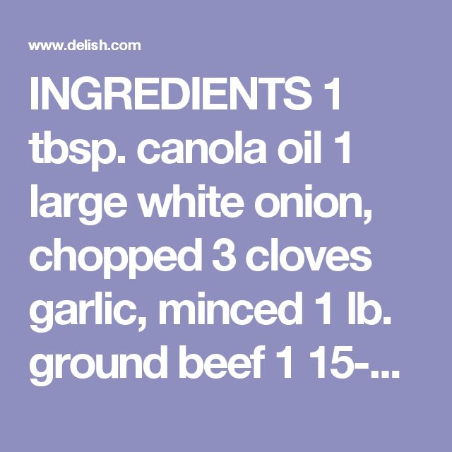 INGREDIENTS  1 tbsp. canola oil 1 large white onion, chopped 3 cloves garlic, minced 1 lb. ground beef 1 15-oz. can fire-roasted diced tomatoes 1 15-oz. can kidney beans 1 tbsp. chili powder 1 tbsp. cumin 1 tsp. cayenne pepper 3 c. low-sodium chicken broth 12 oz. pasta, such as orecchiette or shells 2 c. shredded Cheddar Chopped chives, for garnish