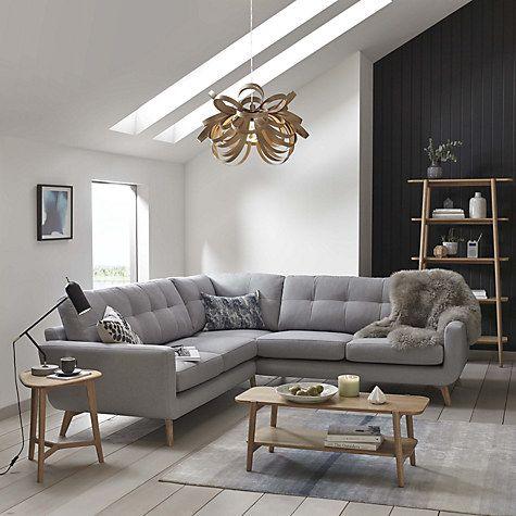 Buy John Lewis Barbican Corner End Sofa Aquaclean Blake Slate Online At Johnlewis