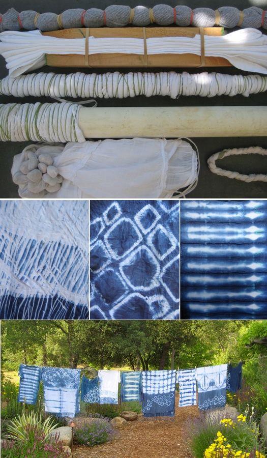 El Costurero: Técnica: teñir con el método Shibori