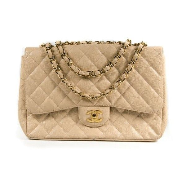 Chanel Jumbo Caviar Beige Crossbody Bag Leather Quilted Flap Cc Tan... ($2,999) ❤ liked on Polyvore featuring bags, handbags, shoulder bags, leather shoulder bag, tan leather shoulder bag, crossbody purses, leather crossbody handbags and handbags crossbody
