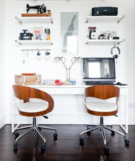 Side by Side | No spare room? No problem. Carve out a workspace in your home with these creative ideas.