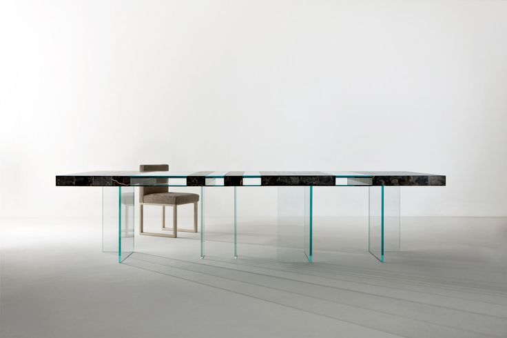 Elemento. Modular table made of Port-Saint-Laurent marble and glass by Paolo Nicolò Rusolen | Laurameroni