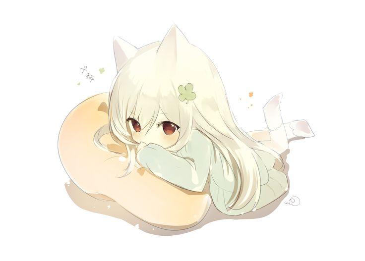 Konachan.com - 230904 catgirl lp_(hamasa00) original.png (1423×1020)
