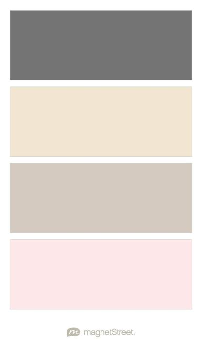 Charcoal, Champagne, Silver, and Blush Wedding Color Palette - custom colour palette created at MagnetStreet.com
