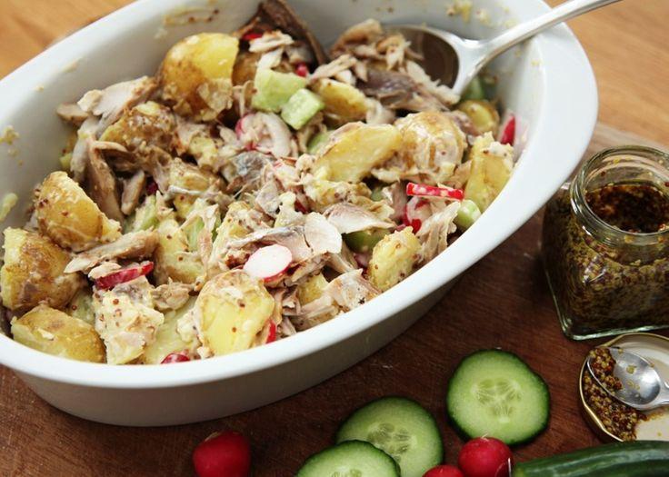 #healthy #salad #mackerel #newpotatoes