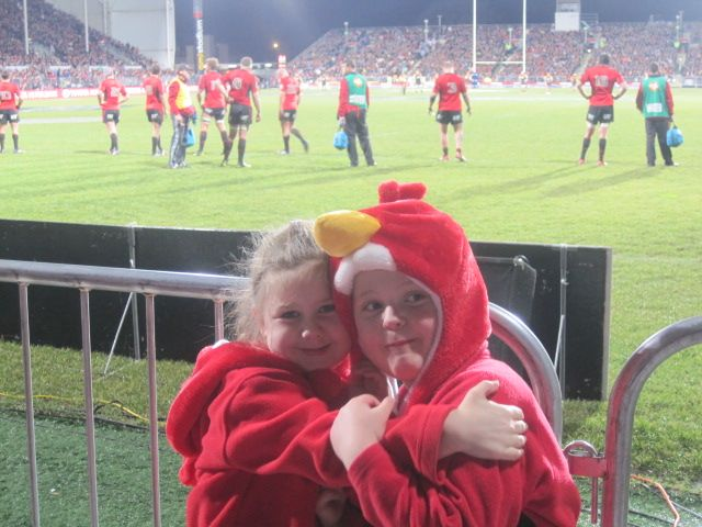 AMI Stadium watching the mighty Crusaders with the family  #christchurch #pictureourcity #rugby #crusaders