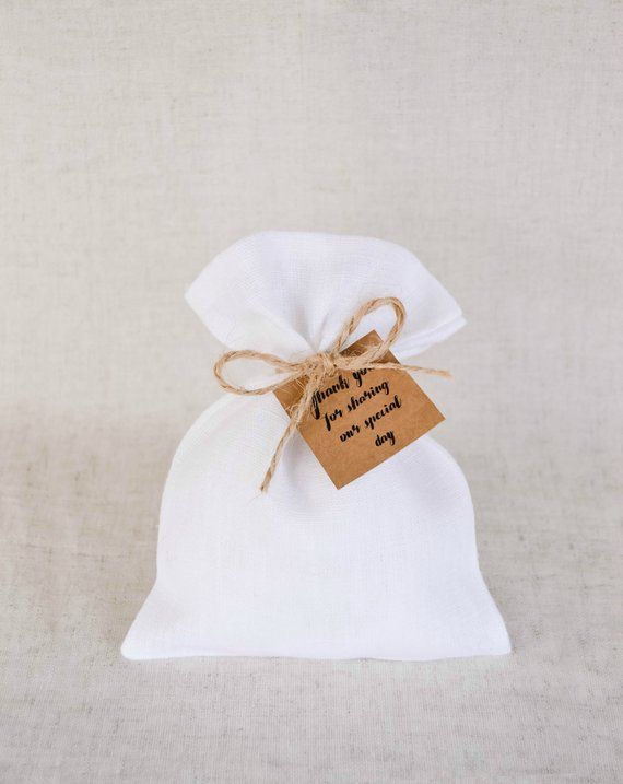 Wedding Gift Bags Linen Favor Bags White Linen Bags Small Etsy Wedding Gift Bags Wedding Favor Bags Burlap Wedding Favor Bags