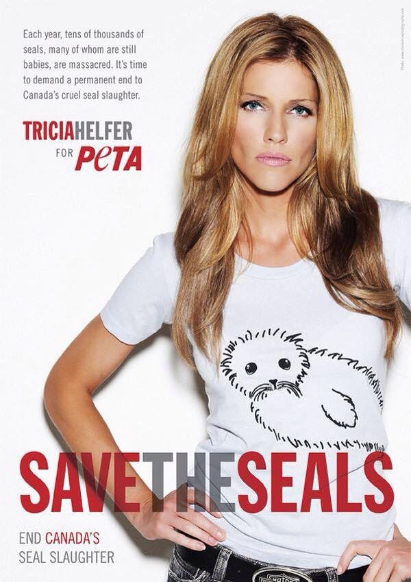Tricia Helfer for PETA