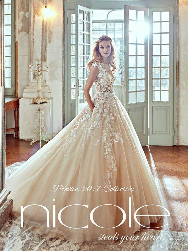 Anteprima Nicole Spose 2017 Abito Nuziale Romantico