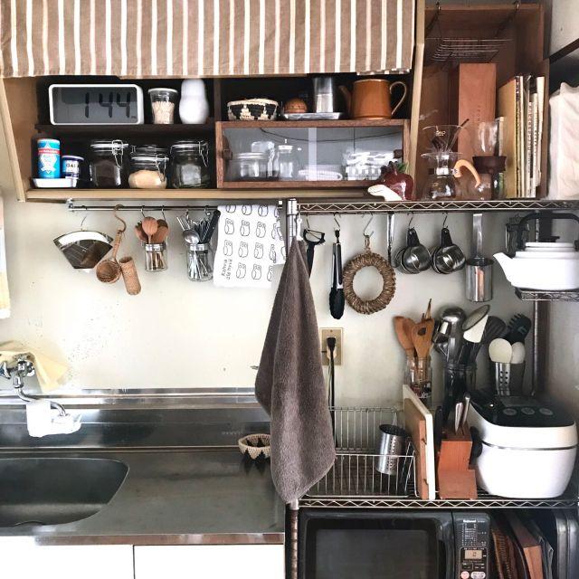 キッチン スチールシェルフ 北欧ヴィンテージ 古い団地 アンティーク