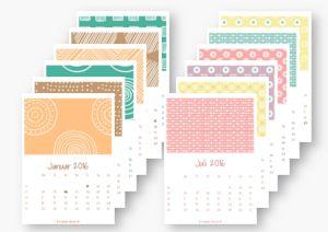 vintage kalender 2016 zum ausdrucken a4 pdf 12 seitig kaluhr. Black Bedroom Furniture Sets. Home Design Ideas