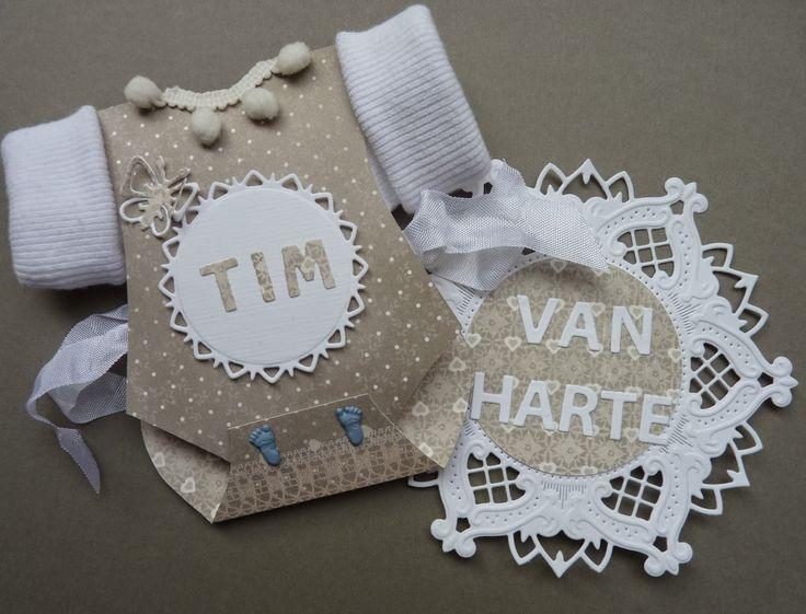 Anja Design - Babykaart rompertje