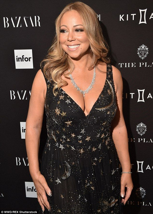 Mooning over her new man: Mariah Carey dished about her billionaire beau James Packer at the party to celebrate Harper's Bazaar's Icons issue at The Plaza Hotel in New York on Wednesday