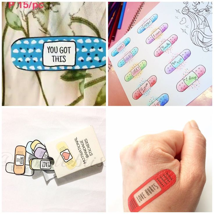 Etsy is full of motivational self care bandaids and bandage tattoos 🎨