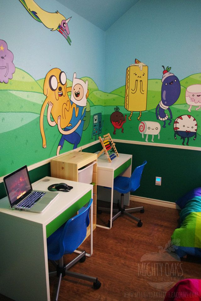 I will invite my friends everyday for a sleepover with a bedroom like this. :D  #adventure time #finn and jake #room design