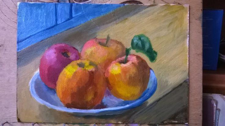 Яблоки. Этюд. Apples. Etude.