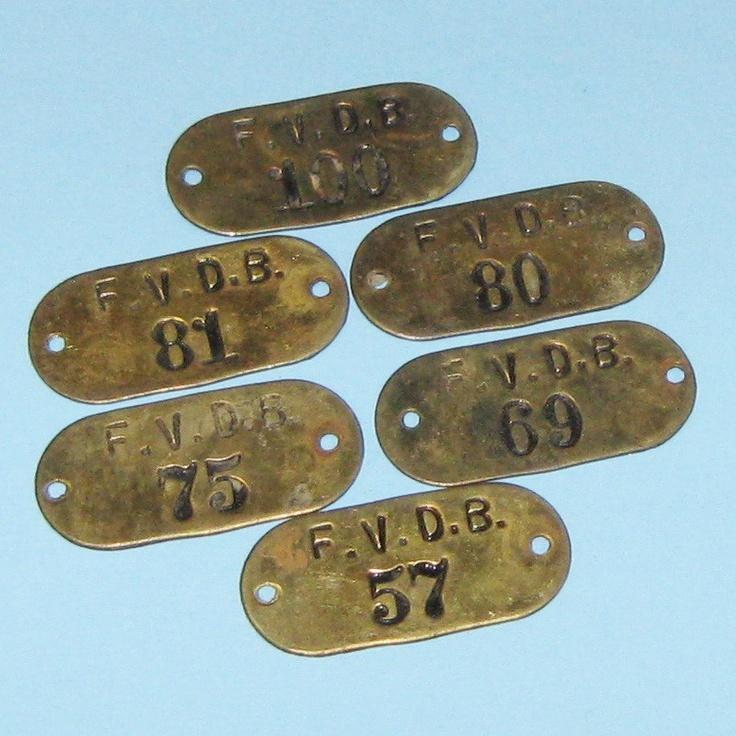 Vintage Brass Tags 8