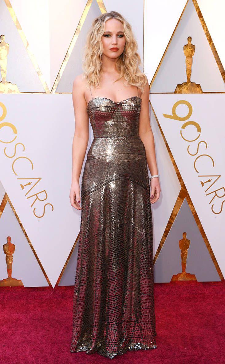 c9360f56c 2018 Oscars Red Carpet Fashion Jennifer Lawrence, 2018 Oscars, Red Carpet  Fashions In Dior