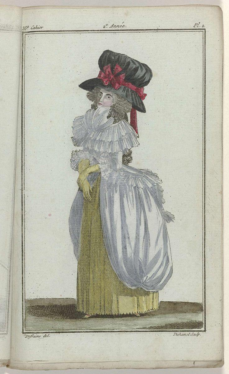 Magasin des Modes Nouvelles Françaises et Anglaises, 30 octobre 1787, 35e cahier, 2e année, Pl.  2, A.B. Duhamel, 1787