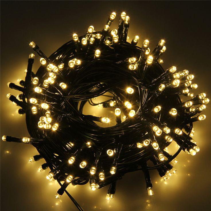 22 М Солнечных Батареях Светочувствительный Свет Строка Огни Украшения Гирлянды Светодиодные Солнечный Рождественские Огни на открытом воздухе купить на AliExpress
