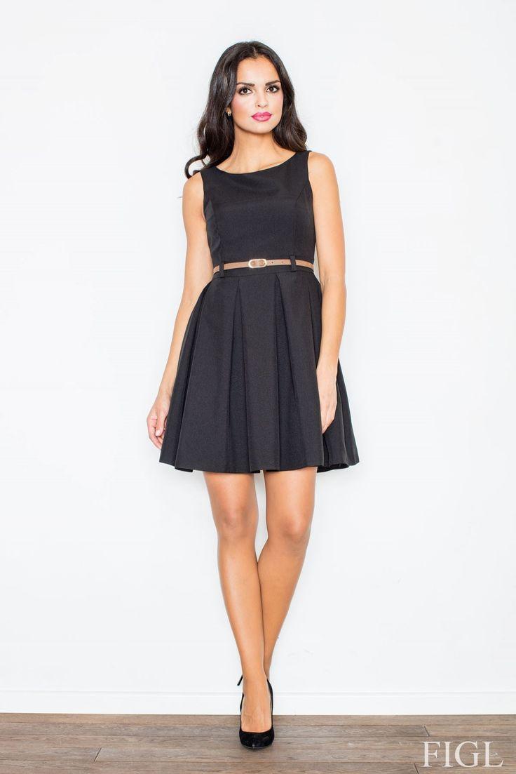 Sukienka M083 - odcienie czarnego