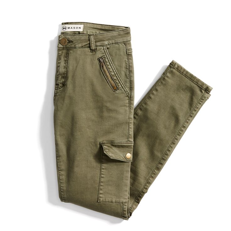 Wow! I seriously need these from my personal stylist at Stitch Fix. They might be a little hot for summer 2017, but as soon as fall rolls in I would wear these bad boys every. single. day!! LOVE! Green cargo skinny jeans from Stitch Fix. #affiliate   www.MamaBearMartin.com