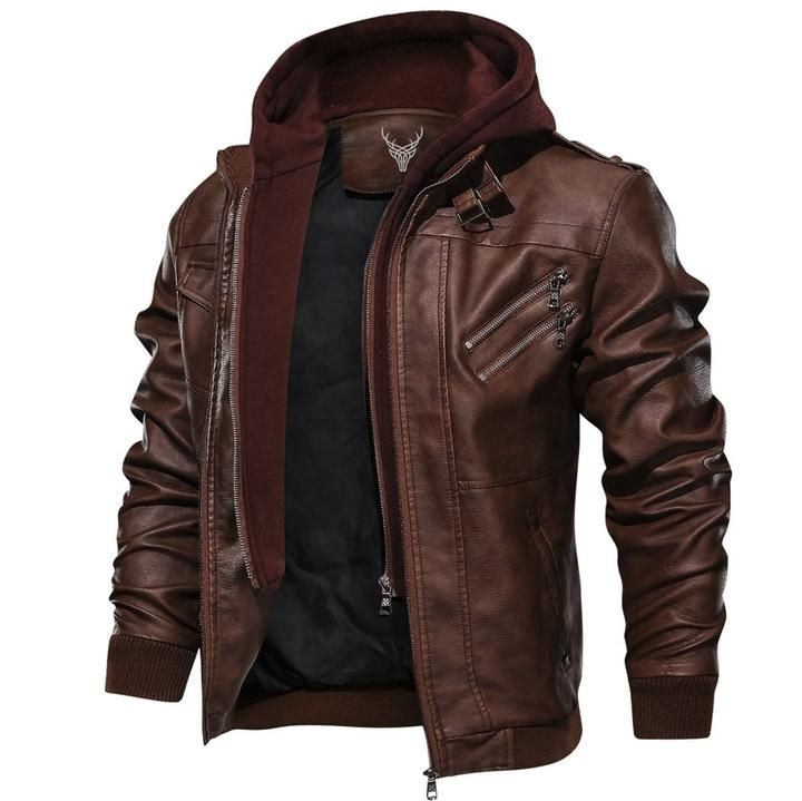 Men/'s Winter Autumn Warm Motorcycle PU Leather Jacket Coat Casual Cardigan