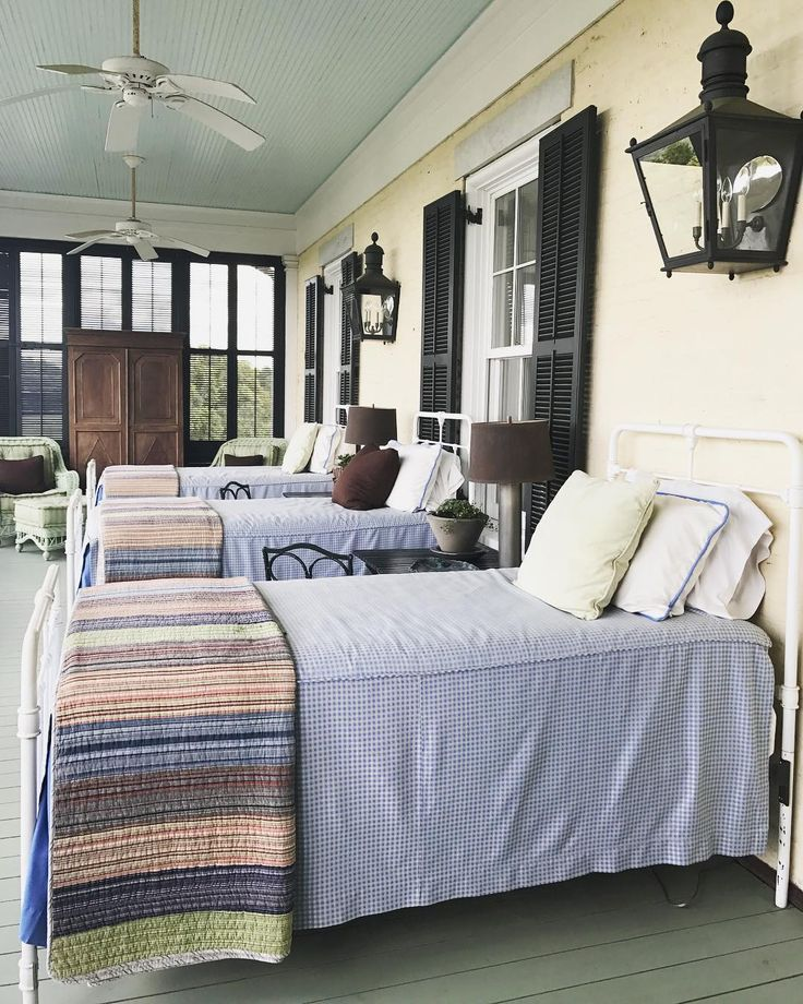 "51 Likes, 1 Comments - French Country Cottage (@frenchcountrycottage) on Instagram: ""Sleeping porch goals... okay- I guess the first goal is to build a sleeping porch seriously…"""