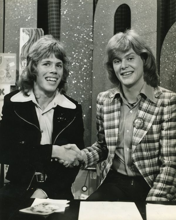 Greg Bepper (host) - Cartoon Corner - Channel 9 1973. Here with John Farnham