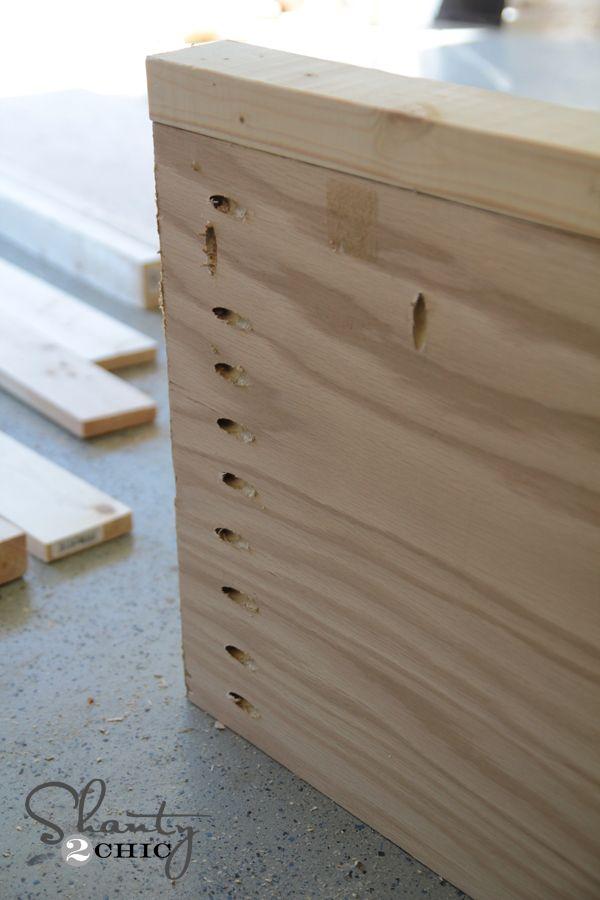 Pocket holes on bed rails