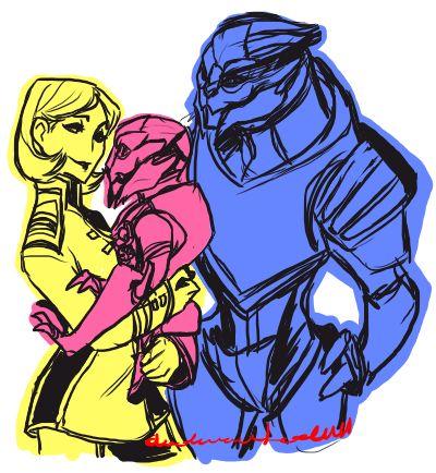 ugh Mass Effect, Garrus, I love it too much. If I'm not pinning I'm playing ha ha