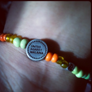 United Against Malaria bracelet! Made in Africa! I wear it everyday!