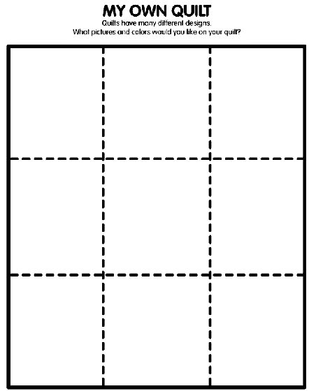 My Own Quilt Coloring Page Napping House Preschool Letters