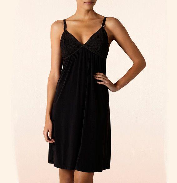 Koszulka - Anemone | Chemise - Anemone | 149,90PLN #koszulka #bielizna #czarna #seksowna #lingerie #chemise #anemone #black #sexy #intimate #britney_spears