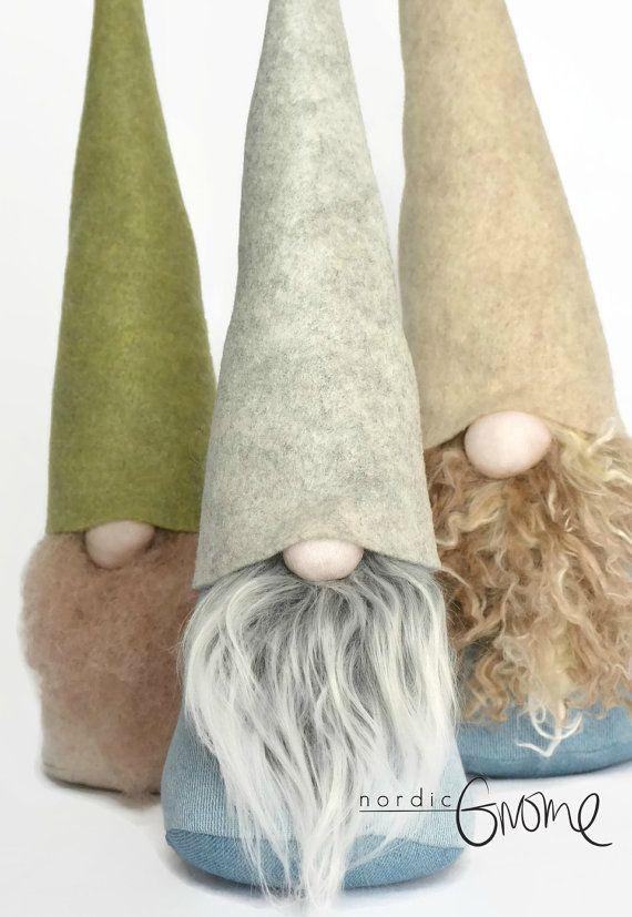 PEQUEÑO gnomo escandinavo Nordic Gnome por NordicGnomeShop en Etsy