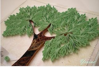 Intriguing quilled leaves