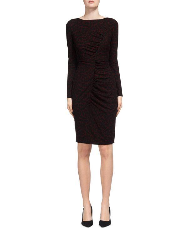 Whistles Animal-Print Body-Con Dress