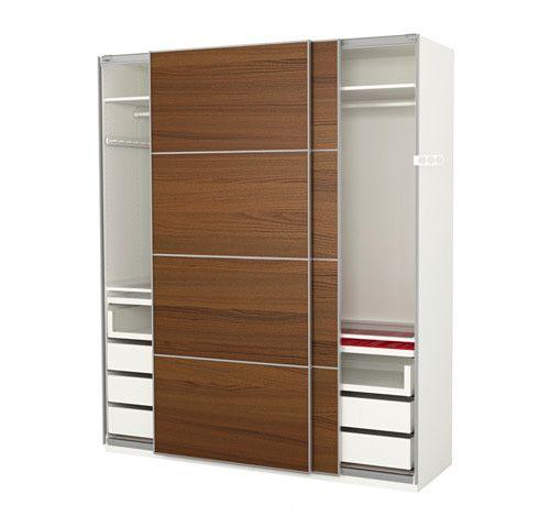 Whether you have a closet or not, this wardrobe is the ultimate in organization and privacy. If your closet is large enough, you can insert this unit inside of it to keep all of your personal items and clothing organized while remaining hidden by the sliding doors that are included with the unit. If you don't have a closet, place it somewhere in your bedroom and all of your belongings still remain hidden and safe.