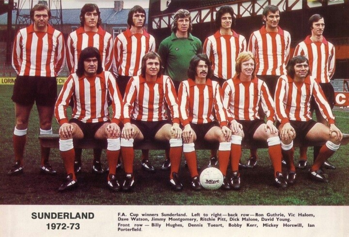 Sunderland's 1973 FA Cup winning team | Sunderland AFC | Pinterest | Sunderland and Cups
