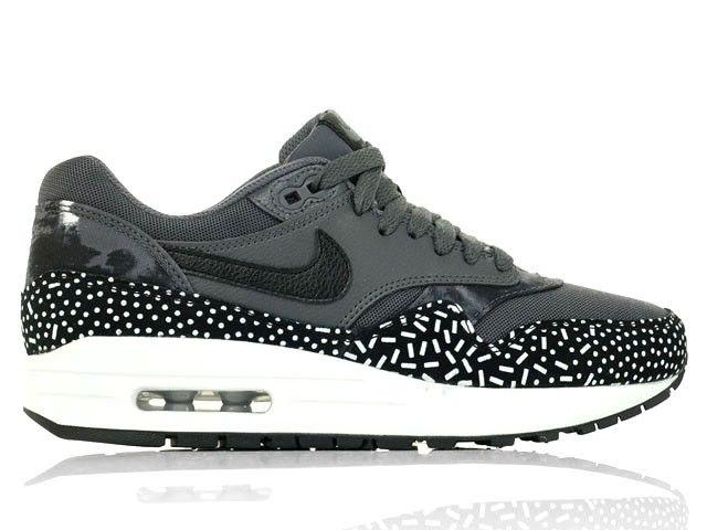 Nike Air Max 1 Print (528898 001) Dark Grey Black White