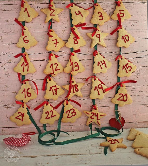 Cómo hacer un Calendario de Adviento con galletas para Navidad paso a paso para que hagan los niños