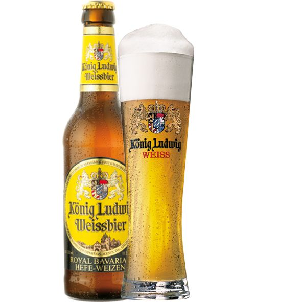 A superior German ale, Konig Ludwig Weissbier has that familiar banana floral aroma that set Hefe-weizen ales apart from the others. The hazy, golden color with a thick white head makes this one sexy beer when poured into a weizen glass. 5 stars out of 5