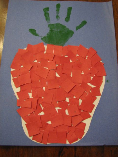 Fine motor and a keepsake! Can snip or tear the red paper.