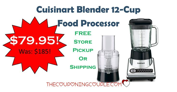 HOT BUY!  Get the Cuisinart Blender 12 Cup Food Processor for only $79.95! Was $185! Great addition to your kitchen!  Click the link below to get all of the details ► http://www.thecouponingcouple.com/cuisinart-blender-12-cup-food-processor-only-79-95-was-185/ #Coupons #Couponing #CouponCommunity  Visit us at http://www.thecouponingcouple.com for more great posts!