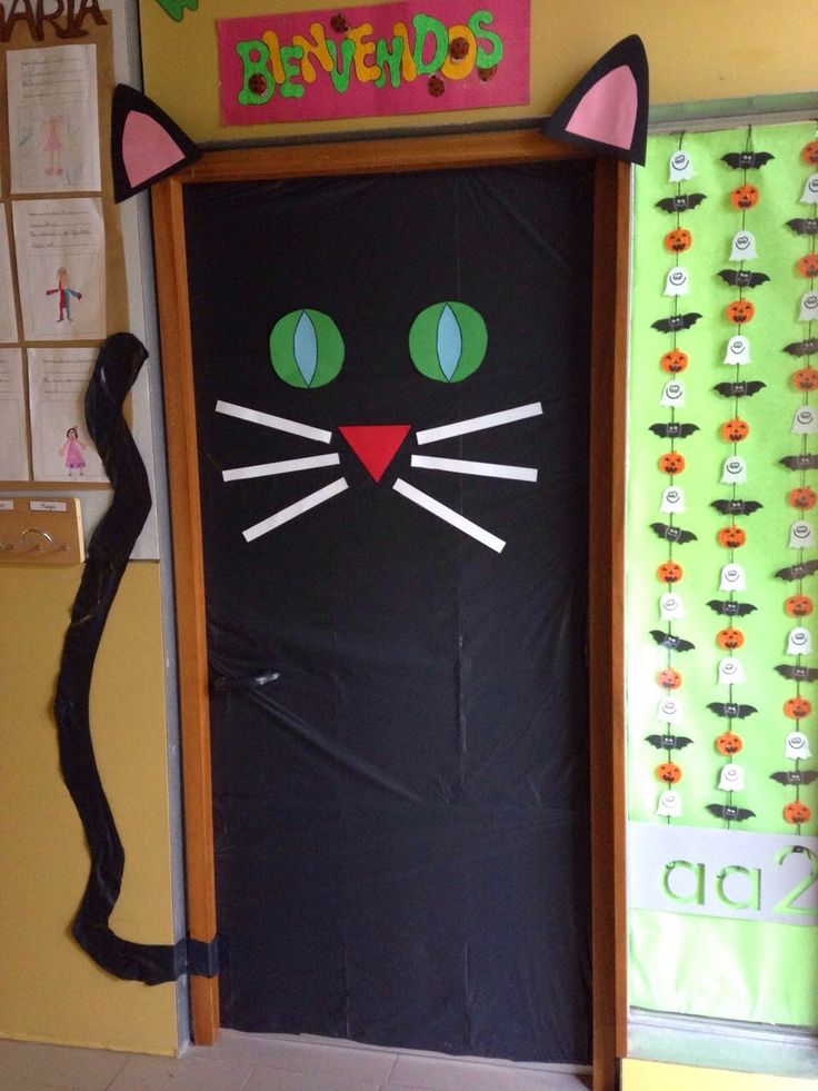 M s de 25 ideas incre bles sobre puertas decoradas - Puertas decoradas halloween ...