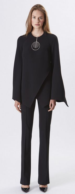 Ralph Lauren Resort 2016: Black silk shirt and black wool crepe pant.