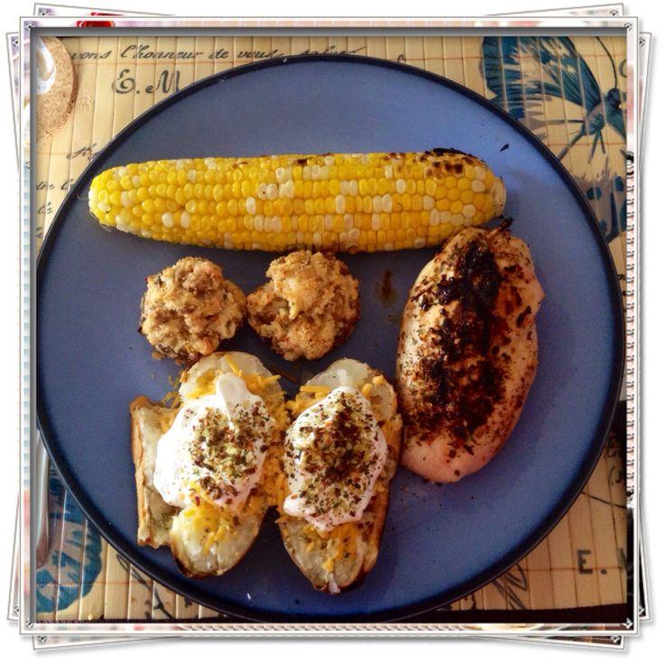 caps. #Epicure #Crab #Dip Grilled baked potato #Epicure #bacon ...