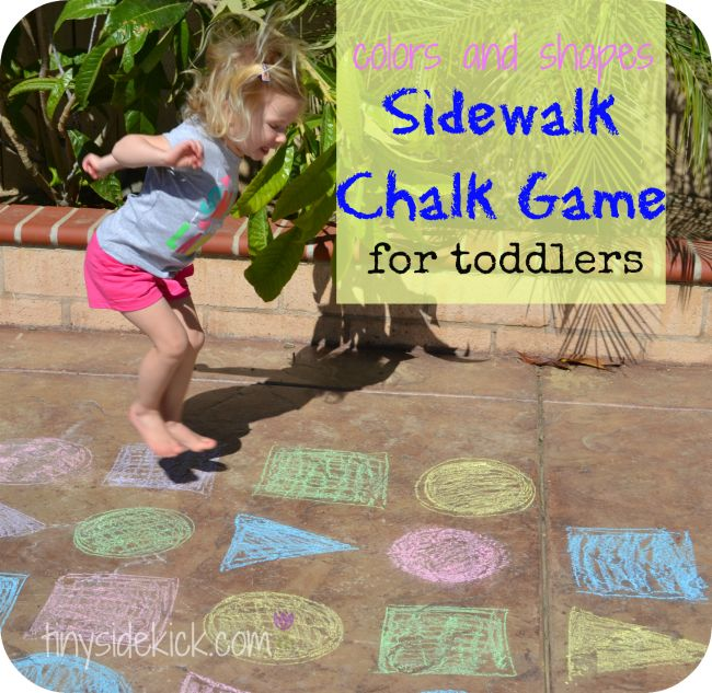colors and shapes sidewalk chalk game for toddlers outdoor toddler activitiestoddler